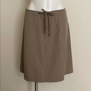 Mountain Hardwear Stretch Nylon Khaki Tan Skirt
